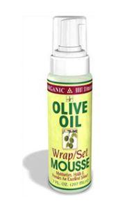 Organic Root Stimulator Olive Oil Wrap/Set Mousse 7oz