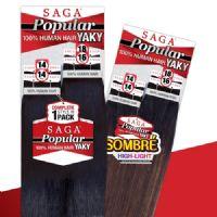 Milky Way Saga Human Hair Popular Yaky 4pc Weaving 14141618