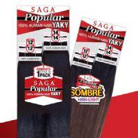 Milky Way Saga Human Hair Popular Yaky 4pc Weaving 12121414
